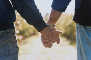 Two Men Holding Hands-812874